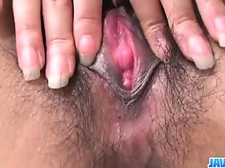 Airi Ai moans while having her bush firmly