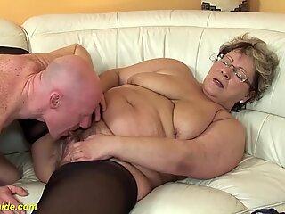 Chubby grandma in love with stepson