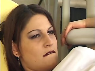 Dentist fills her cavity
