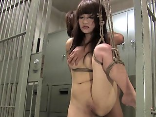 Asian Girl Giving Handjob Sitting To Guy Face Getting Her Hairy Pussy Licked Behind The Bars