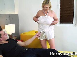 Nailed grandma cum dumped