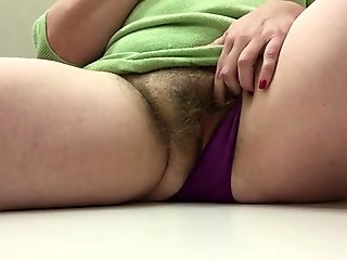 Hairy mom squirt dressing room