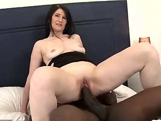 My mommy hairy asshole fucked by black man big cock anal cum