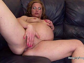 Pik sulten tungt gravid blondine