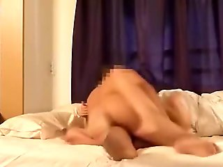 Young amateur wife rides her husband's dick face to face