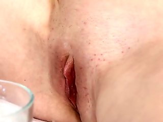 Naughty hairy bitch shaves