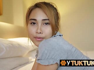 Sensual tiny lady from Thailand gets taken to the street to the hotel just to get her pussy nailed - Lady Sensual