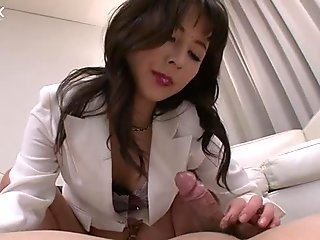 Freaky Asian guy pleases his sweet nurse with solid cunnilingus