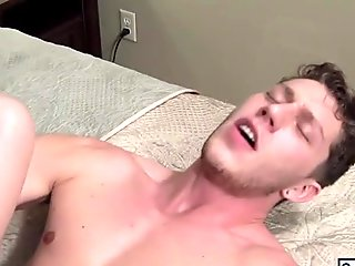 Blonde hunks Colby Jansen and Wesley Woods enjoying sticky cum