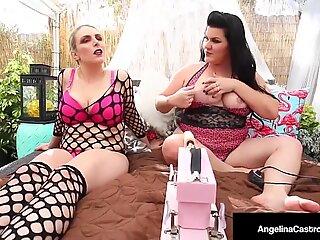 Big Kočky Angelina Castro & Joslyn Jane Fucked by Auto Čurák!