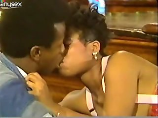 Boobalicious black slut gets nailed bad in a missionary position