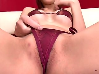 Hot ass brunette masturbates with various toys