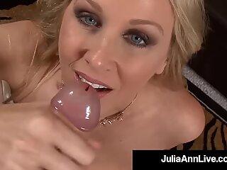 StorBarmet US Milf Julia Ann Mouth Fucks En Hard Pik Første Personer Synsvinkel!