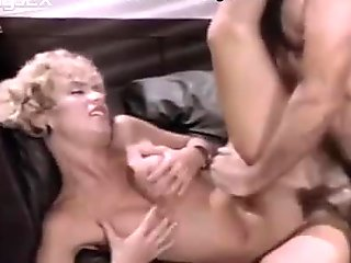 Sexually immodest secretary gets nailed hard on the couch