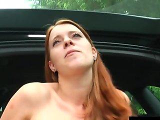 Redhead german cutie masturbate her hairy snatch