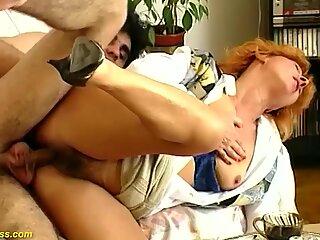 fucking my redhead hairy stepmom